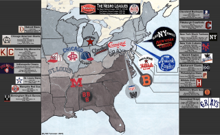 Map O' The Day #32 – The Negro Leagues