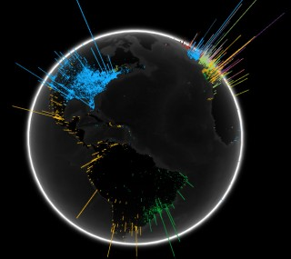 Google Globe Visualizes Search Volume by Language