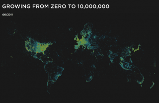 Visualization of the Week: Four Square 10 Million Strong