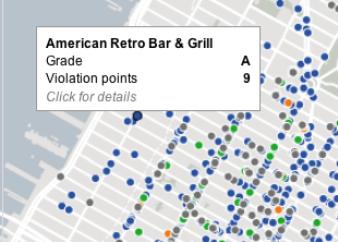 Mapping Restaurants by Health Department Rating