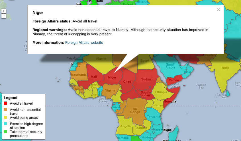 Traveling abroad consult this map first maga design blog interactive travel warnings publicscrutiny